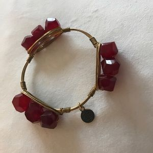 Bourbon & Bowties red beaded bracelet